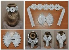 Best 11 This weekend is a busy one with the Christmas Makes Day and a Christmas wreath craft party. Perfect for this weather Ribbon Art, Diy Ribbon, Ribbon Crafts, Wreath Crafts, Ribbon Bows, Making Hair Bows, Diy Hair Bows, Première Communion, Hair Ribbons