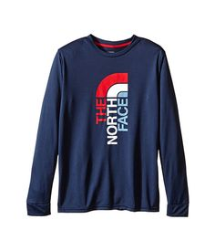 The North Face Kids Long Sleeve Reaxion Tee (Little Kids/Big Kids) Cosmic Blue - Zappos.com Free Shipping BOTH Ways