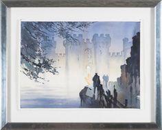 """Thomas W Schaller - """"Bodium Castle - England"""" finns att köpa hos oss på Galleri Melefors / is available for purchase at Galleri Melefors #thomaswschaller #schaller #thomas #fine #art #aqurelle #painting #interiordesign #design #interior #decoration #england #bodiumcastle #bodium #castle #bridge #night #evening #dark #forsale #buy #konst #interiör #inredning #dekoration #slott #bro #mörk #natt #tillsalu #köp #gallerimelefors #melefors"""