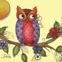 PenDezign : Owl On Branch Shirt Project Packet