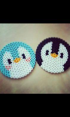 perler hama beads penguin or bird