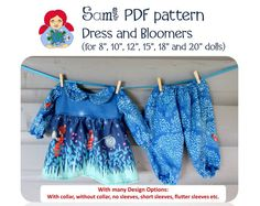 Waldorf Doll Dresses and Bloomers in 6 Sizes PDF by SamiDolls