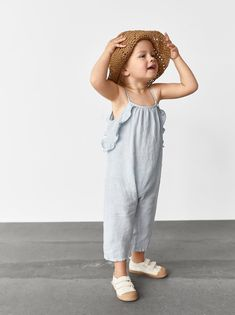 RUFFLED OVERALLS - Item available in more colors