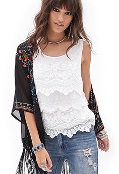 Tiered Lace Top | Forever21 - 2000066891