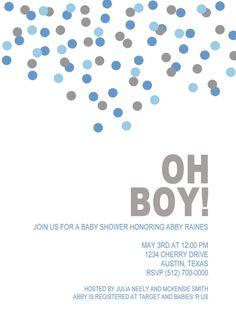 Oh Boy Baby Shower Invitations Luxury Oh Boy Baby Shower Invitation Digital File Baby Shower Invitation Cards, Baby Shower Invitations For Boys, Baby Shower Printables, Invite, Royal Baby Showers, Star Baby Showers, Cowboy Baby Shower, Baby Boy Shower, Making Ideas