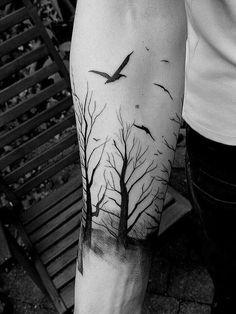 bosque tatuajes para hombres