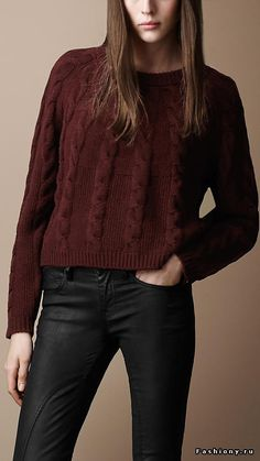 Burberry sweater. Simple and perfect.