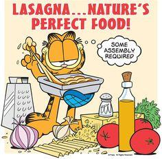 It's National Lasagna Day! Make a batch! Recipe here: https://garfield.com/lasagna