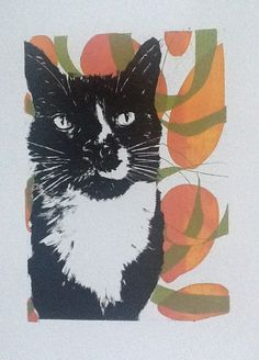 What's up Pussy Cat, limited edition screen print by Owie Simpson