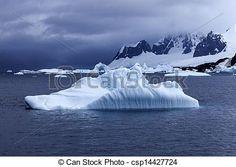 Stock Photo - Antarctica landscape - stock image, images, royalty free photo, stock photos, stock photograph, stock photographs, picture, pictures, graphic, graphics