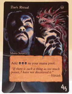 MTG Magic DARK RITUAL Tempest Hand Painted Altered Art Card OOAK #WizardsoftheCoast