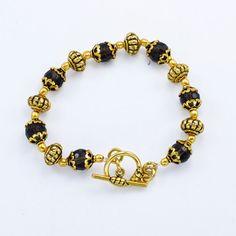 Smoky Quartz Beads & Gold plated with beautiful bracelet Handmade Jewelry #Handmade #BangleBracelet