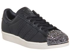 Adidas Superstar 80's Metal Toe Black Shattered Mirror 3d