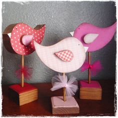 Valentine Tweety Love Bird Trio by craftjunkie28 on Etsy, $16.99