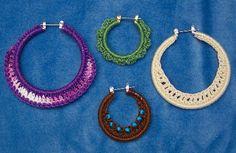 Refashioned Hoop Earrings with Crochet ~ pattern