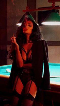 Redhead smoking shooting pool pics 752