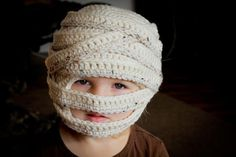 CROCHET PATTERN - Mummy Hat (Sizes 6 mo - Large Adult). via Etsy.