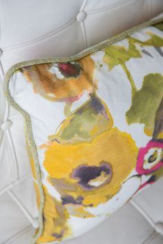 The Bouquet Group of Pillows.  Three pillows perfect for spring.  Includes Romo Trimming, Zimmer + Rohde Fabric, Designers Guild Fabric.  Designer Custom Pillows. Floral Pillows.  Will Ship to US.