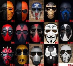Army of Two Mask Paintball AirsoftT BB Gun Helmet Protective Gear Cosplay Comic #Handmade: