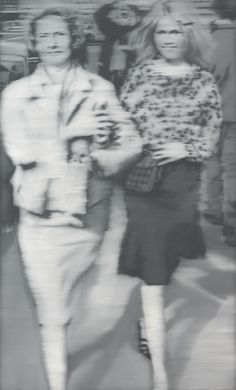 Richter often used media images as a source for his early paintings, which can be seen in works like 'Mother and Daughter' (1965) based on a paparazzo photo of the French actress Brigitte Bardot.