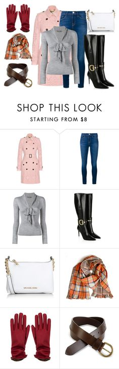 """""""London"""" by beastblade on Polyvore featuring Burberry, Frame Denim, Alexander McQueen, Gucci, Michael Kors, women's clothing, women, female, woman and misses"""