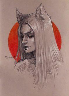 Fox sketch by sashajoe.deviantart.com on @DeviantArt