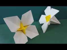 Easy Origami Flower - Narcissus Flower                                                                                                                                                                                 More