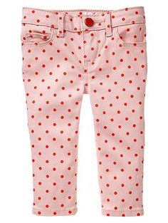 Colored dot skimmer jeans | Gap...so cute...with the white tank I just pinned and a denim jacket..a.dor.a.ble!!!