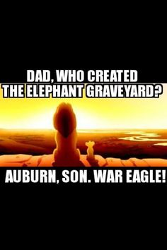 War Eagle!! lol I've thought of this before!