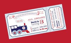 Train party invitation