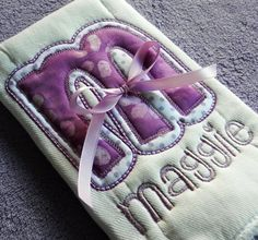 i love this lilac applique burp cloth (he he, I made it!)