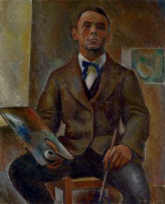 Alexandre Blanchet - Autoportrait, 1916 - Huile sur toile, 100 x 81 cm. Global Art, Art Market, Art, Painting