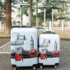 Wanting a - hard luggage sets Dc Travel, Travel Luggage, Luggage Suitcase, Luggage Bags, Travel Bag, Cheap Luggage Sets, Travel Trolleys, Vintage Prints, Vintage Style