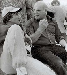 Dustin Hoffman and John Schlesinger on-set ofMarathon Man (1976)