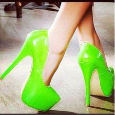 Green high high heels: these for the difficult bridesmaid.  You can even offer to pay for them. :)     (Seriously though: really?)