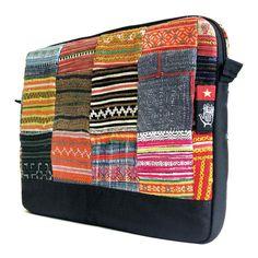 "Vietnam 2 Dep Sleeve for MacBook Pro 15"" - Socially Responsible Laptop Bags by Ethnotek - Direct Trade - Fair Trade - Social Entrepreneurs - Handmade Textiles - Global Artisans - Guatemalan Textiles - Travel Sleeve - Wanderlust - MacBook - Laptop Case - www.EthnotekBags.com"
