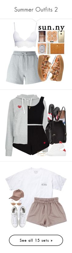 """""""Summer Outfits 2"""" by cookiemonster8998 ❤ liked on Polyvore featuring McQ by Alexander McQueen, Puma, Diptyque, MCM, Smith & Cult, Givenchy, Play Comme des Garçons, Lord & Berry, Calvin Klein Collection and Dolce&Gabbana"""