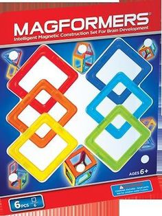 Magformers Squares 6 pieces 630860 - Toysheik