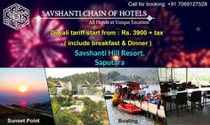 #Special Diwali Offer from #Savshanti Hill Resort,Saputara. Visit: http://savshantihotels.com/Savshanti_hill_resort/index.html