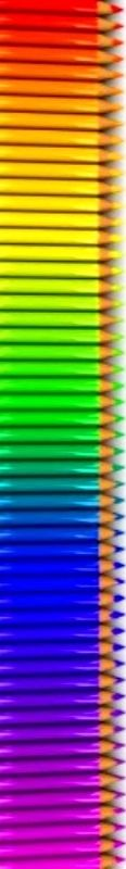 Rainbow colored pencil stack