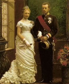 """royals-and-quotes: """" Classic Royal Wedding Dress - Wedding dress of Princess Stéphanie of Belgium when she married Archduke Rudolf (Crown Prince of Austria) - 1881 """" I think this dress was for. Royal Brides, Royal Weddings, Impératrice Sissi, Franz Josef I, Kaiser Franz, Princess Stephanie, 1880s Fashion, Royal House, Jolie Photo"""