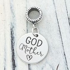 0f4033fcd Godmother Personalized Engraved Charm Bead - Pandora Compatible Godmother  Gifts, Custom Charms, Charm Bead