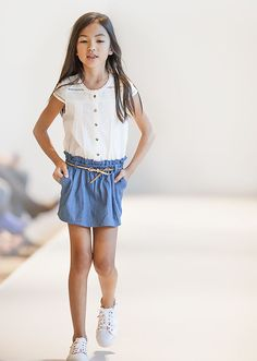 Mode enfant : Robe bi-matières IKKS Fille