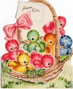 chicks http://www.pinterest.com/buttonannie/retro-vintage-easter-graphics/