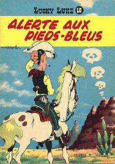 [link] Alerte aux Pieds-Bleus est la vingt-deuxième histoire de la série Lucky Luke par Morris. Elle est publiée pour la première fois du no 938 au no 957 du journal Spirou. Puis est publiée en album en 1958. https://fr.wikipedia.org/wiki/Alerte_aux_Pieds-Bleus