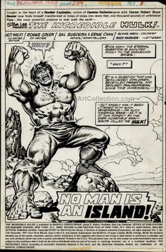 One of my all-time favourite Hulk pages... by Sal Buscema and Ernie Chan.