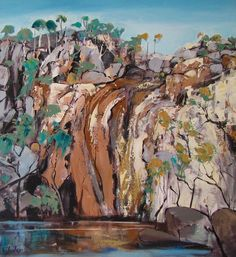 McKenzie Falls Victoria - Carole Foster Contemporary Landscape, Abstract Landscape, Landscape Paintings, Oil Painting Abstract, Abstract Art, Paintings I Love, Oil Paintings, Australian Artists, Art Inspo