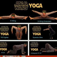 Star Wars Yoga. LOVE this!