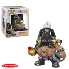 This is the Overwatch POP Roadhog Vinyl Figure that is produced by Funko. Recommended Age: Condition: Brand New and Sealed Dimensions: X 1 Funko Overwatch POP Roadhog Vinyl Figure Roadhog Overwatch, Pop Vinyl Figures, Cultura Pop, Overwatch Action Figures, Geeks, Chibi, Playstation, Otaku, Geek Decor