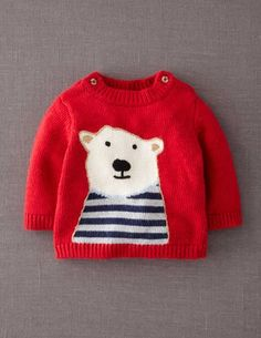 I've spotted this @BodenClothing Logo Sweater Red Polar Bear